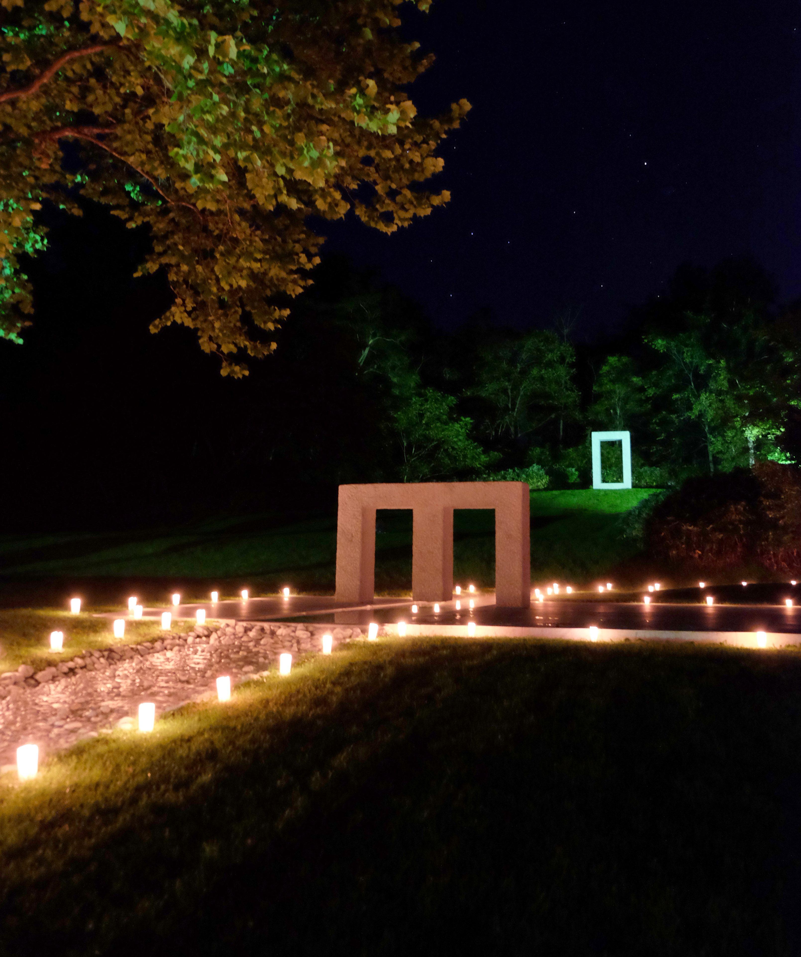 水の広場「キャンドル点灯」